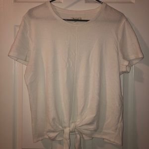 Madewell Front Tie Shirt